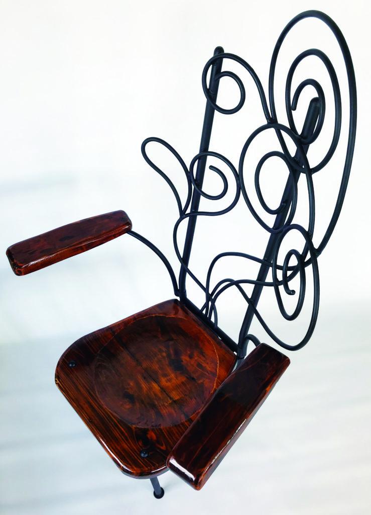 アイアン家具 椅子 水